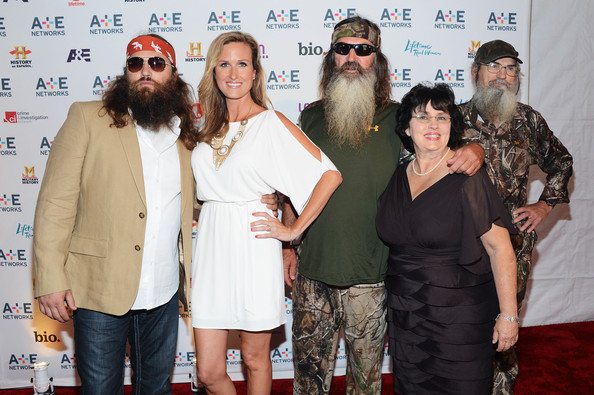 Willie Robertson (L-R) Willie Robertson, Korie Robertson, Phil
