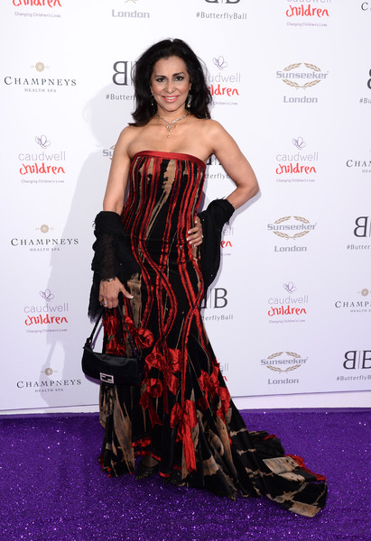 The Butterfly Ball 2019 - Arrivals [clothing,dress,fashion model,red carpet,carpet,strapless dress,shoulder,fashion,premiere,hairstyle,arrivals,butterfly ball,grosvenor house hotel,london,england,wilnelia forsyth]