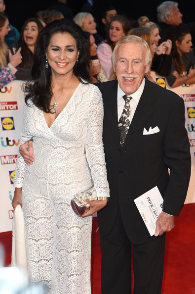 Pride of Britain Awards [bruce forsyth,wilnelia forsyth,r,pride of britain awards,awards,pride of britain,red carpet,carpet,event,premiere,suit,fashion,flooring,dress,formal wear,smile,england,london,grosvenor house hotel]