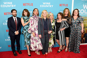 "Jason Schwartzman, Tina Fey, Maya Rudolph, Amy Poehler, Paula Pell, Rachel Dratch, Ana Gasteyer and Emily Spivey attend the ""Wine Country"" World Premiere at Paris Theatre on May 08, 2019 in New York City."