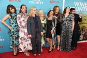 "Tina Fey, Maya Rudolph, Amy Poehler, Paula Pell, Rachel Dratch, Ana Gasteyer, Emily Spivey and Jason Schwartzman attend the ""Wine Country"" World Premiere at Paris Theatre on May 08, 2019 in New York City."