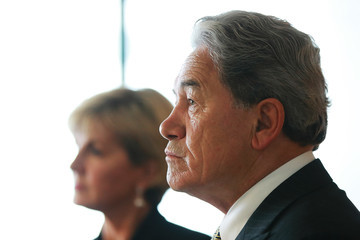 Winston Peters Australian Minister of Foreign Affairs Julie Bishop Visits Auckland
