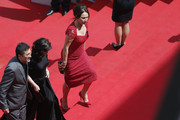 (L-R) Director Nuri Bilge Ceylan, writer Ebru Ceylan and actress Demet Akbag attend the 'Winter Sleep' premiere during the 67th Annual Cannes Film Festival on May 16, 2014 in Cannes, France.