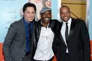 """(L-R) Zach Braff, Chris Rock and Donald Faison attend the """"Wish I Was Here"""" screening at AMC Lincoln Square Theater on July 14, 2014 in New York City."""