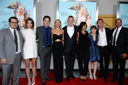 "(L-R) Josh Gad, Ashley Greene, Zach Braff, Kate Hudson, Peter Schlessel, Christine Birch, Joey King, Adam Braff and Donald Faison attend the ""Wish I Was Here"" screening at AMC Lincoln Square Theater on July 14, 2014 in New York City."