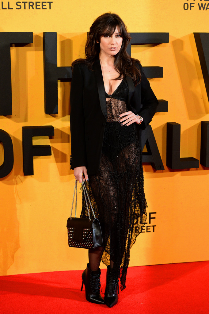 "Daisy Lowe attends the UK Premiere of ""The Wolf Of Wall Street"" at Odeon Leicester Square on January 9, 2014 in London, England."