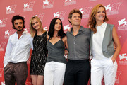 "(L-R) Michele Venitucci, Jess Weixler, Giada Dafoe, Willem Dafoe and Stefania Rocca attend ""A Woman"" photocall during the 67th Venice Film Festival at the Palazzo del Casino on September 4, 2010 in Venice, Italy."
