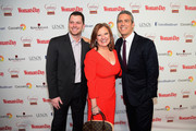 Albie Manzo, TV Personality Caroline Manzo and host Andy Cohen attend the Woman's Day Red Dress Awards on February 10, 2015 in New York City.