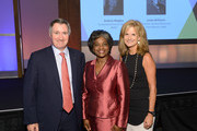 (L-R) Chairman & CEO, Time Warner Cable Glenn Britt, acting Chairwoman of the Federal Communications Commission Mignon Clyburn and Chief Government Relations Officer & Executive VP at Time Warner Cable Gail MacKinnon pose for a photo during the 2013 Women in Cable Telecommunications Signature Luncheon at Walter E. Washington Convention Center on June 10, 2013 in Washington, DC.