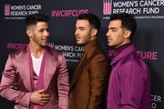 (L-R) Nick Jonas, Kevin Jonas, and Joe Jonas of Jonas Brothers attend The Women's Cancer Research Fund's An Unforgettable Evening 2020 at Beverly Wilshire, A Four Seasons Hotel on February 27, 2020 in Beverly Hills, California.