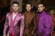 (L-R) Nick Jonas, Joe Jonas, and Kevin Jonas of the Jonas Brothers pose for portrait at The Women's Cancer Research Fund's An Unforgettable Evening 2020 at Beverly Wilshire, A Four Seasons Hotel on February 27, 2020 in Beverly Hills, California.