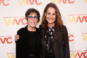 Former CEO of Claire's, Bonnie Schaefer (L) and actress Debra Winger attend The Women's Media Center 2015 Women's Media Awards on November 5, 2015 in New York City.