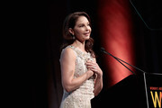 Ashley Judd accepts the WMC Speaking Truth To Power Award onstage at the Women's Media Center 2017 Women's Media Awards at Capitale on October 26, 2017 in New York City.