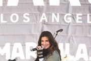 Idina Menzel attends Women's March Los Angeles 2018 on January 20, 2018 in Los Angeles, California.