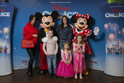 Imogen thomas attends The Wonderful World of Disney On Ice VIP Launch at The SSE Arena, Wembley on March 13, 2019 in London, England.