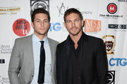 Actros Brent Antonello(L) and Adam Senn(R) arrive at the World Choreography Awards at The Ricardo Montalban Theatre on November 16, 2015 in Hollywood, California.