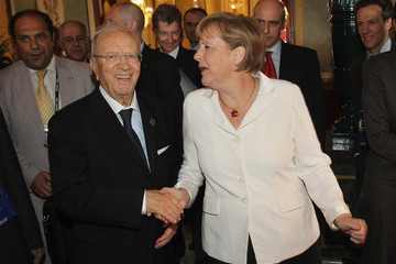 Beji Caid Essebsi World Leaders Attend G8 Summit 2011 in Deauville