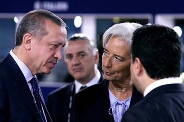 Recep Tayyip Erdogan World Leaders Gather In Cannes For The G20 Summit