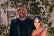 "Metta World Peace (L) and guest attends the world premiere of Apple TV+'s ""See"" at Fox Village Theater on October 21, 2019 in Los Angeles, California."