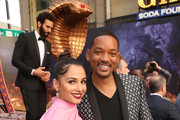 "Naomi Scott (L) and Will Smith attend the World Premiere of Disney?s ""Aladdin"" at the El Capitan Theater in Hollywood CA on May 21, 2019, in the culmination of the film?s Magic Carpet World Tour with stops in Paris, London, Berlin, Tokyo, Mexico City and Amman, Jordan."