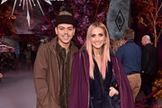 "(L-R) Evan Ross and Ashlee Simpson attend the world premiere of Disney's ""Frozen 2"" at Hollywood's Dolby Theatre on Thursday, November 7, 2019 in Hollywood, California."