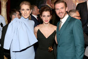 """Singer Céline Dion, actress Emma Watson and actor Dan Stevens arrive for the world premiere of Disney's live-action """"Beauty and the Beast"""" at the El Capitan Theatre in Hollywood as the cast and filmmakers continue their worldwide publicity tour on March 2, 2017 in Los Angeles, California."""