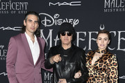 "(L-R) Nick Simmons, Gene Simmons and Sophie Simmons attend the World Premiere of Disney's ""Maleficent: Mistress of Evil"" at El Capitan Theatre on September 30, 2019 in Los Angeles, California."