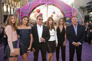 "(L-R) Scarlet Rose Stallone, Sistine Rose Stallone, actor Sylvester Stallone, Jennifer Flavin, Sophia Rose Stallone and actor Frank Stallone at The World Premiere of Marvel Studios' ""Guardians of the Galaxy Vol. 2."" at Dolby Theatre in Hollywood, CA April 19th, 2017"