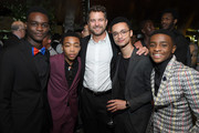 "Ethan Herisse, Asante Blackk, Joshua Jackson, Marquis Rodriguez and Caleel Harris attend the World Premiere of Netflix's ""When They See Us"" at Lincoln Ristorante on May 20, 2019 in New York City. (Photo by Dimitrios Kambouris/Getty Images)z"