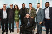 """(L-R) Allen Covert, Robert Smigel, Allison Strong, Chris Rock, Adam Sandler, Roland Buck III, Chuck Nice and Jim Barone attend the World Premiere of the Netflix film """"The Week Of"""" at AMC Loews Lincoln Square 13 on April 23, 2018 in New York City."""