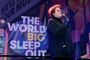 President and CEO of UNICEF USA Caryl M. Stern speaks onstage during the The World's Big Sleep Out at Times Square on December 07, 2019 in New York City.