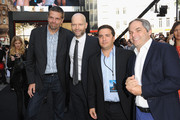 President of Production Marc Evans, Director Marc Forster, Chief Marketing Officer Josh Greenstein and President of Paramount Film Group Adam Goodman attend the World Premiere of 'World War Z' at The Empire Cinema on June 2, 2013 in London, England.