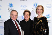 World of Children Co-Founder, Event Co-Chair Harry Leibowitz,  President of U.S. Fund for UNICEF Caryl Stern,   World of Children Co-Founder, Event Co-Chair Kay Isaacson Leibowitz attend World of Children Awards 2017 at 583 Park Avenue on November 2, 2017 in New York City.