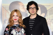 "From the cast, actress Christina Hendricks arrives with Geoffrey Arend for the world premiere of the film ""Fist Fight"" in Los Angeles, California on February 13, 2017. / AFP / Frederic J. Brown"
