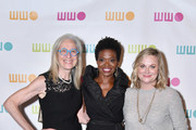 (L-R)  Worldwide Orphans Foundation CEO and President Dr. Jane Aronson, LaChanze, and Amy Poehler attend the Worldwide Orphans 14th Annual Gala at Cipriani Wall Street on November 5, 2018 in New York City.