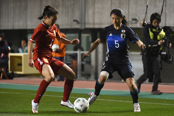Wu Haiyan Japan v China - AFC Women's Olympic Final Qualification Round