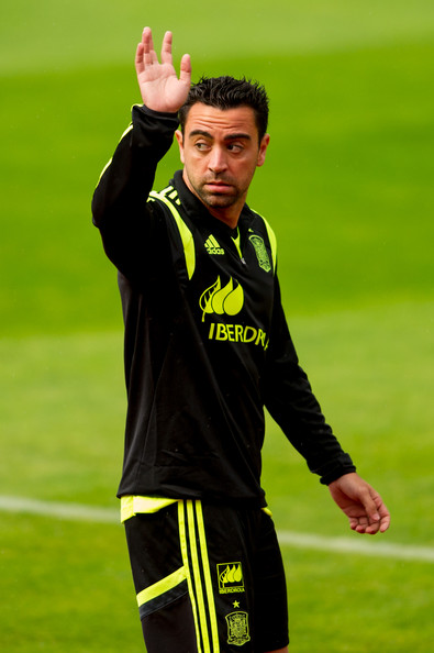 Xavi Hernandez - Spain Training Session