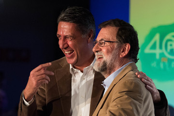Xavier Garcia Albiol Prime Minister Mariano Rajoy Unveils Candidates for the Catalan Regional Elections
