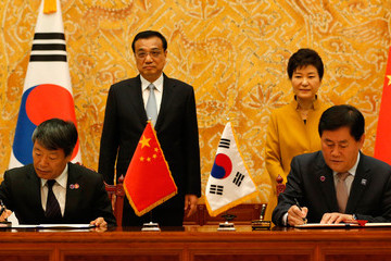 Xu Shaoshi China and South Korea Hold Presidential Summit In Seoul
