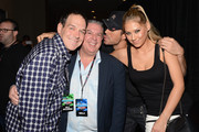 Froggy, Elvis Duran, Enrique Iglesias and Anna Kournikova attend the Y100's Jingle Ball 2012 at the BB&T Center on December 8, 2012 in Miami.