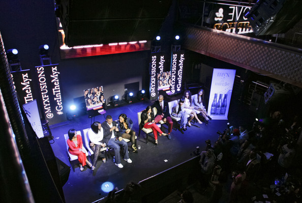 'Love & Hip Hop' Season 4 Premieres in NYC [season,love hip hop,stage,performance,event,performing arts,concert,music venue,design,display device,architecture,auditorium,yandy smith,tara wallace,joe budden,amina buddafly,erica mena,cyn santana,vh1,premiere]