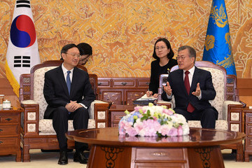 Yang Jiechi Chinese State Councillor Yang Jiechi Meet South Korean President Moon Jae-In