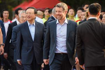 Yang Jiechi Danish Crown Prince Frederik Visits China - Day 1