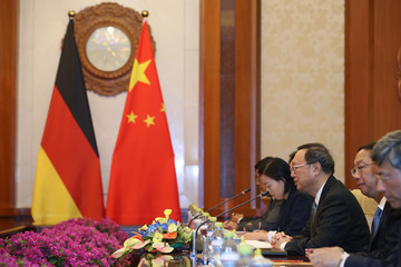 Yang Jiechi German Foreign Minister & Vice Chancellor Sigmar Gabriel Visits China