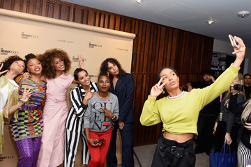Yara Shahidi Elaine Welteroth The Teen Vogue Summit LA: Keynote Conversation With 'A Wrinkle In Time' Director Ava Duvernay and Actresses Rowan Blanchard and Storm Reid