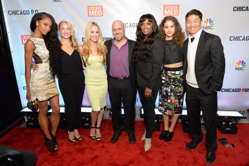 Yaya DaCosta Brian Tee NBC's 'Chicago Fire,' 'Chicago P.D.' and 'Chicago Med' - Premiere