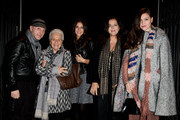 "(L-R) Domenico Dolce, Rosita Missoni, Margherita Missoni, Angela Missoni, Teresa Missoni attend the ""Yayoi Kusama - I want To Live Forever"" Exhibition Preview on November 26, 2009 in Milan, Italy."