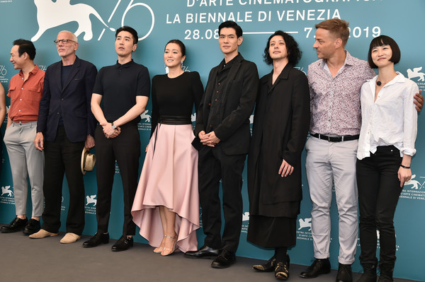 'Lan Xin Da Ju Yuan' (Saturday Fiction) Photocall - The 76th Venice Film Festival [social group,event,team,white-collar worker,company,management,premiere,lan xin da ju yuan,photocall - the 76th venice film festival,left,ye lou,guest,gong li,mark chao,pascal greggory,joe odagiri,tom wlaschiha]