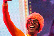 "Musician Lance Robertson aka ""DJ Lance Rock"" performs in the Yo Gabba Gabba! Live! 2011 Tour at The Beacon Theatre on October 15, 2011 in New York City."