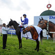 Frankie Dettori and Blue Bunting